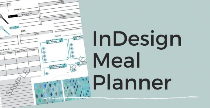 sample collage of inDesign meal planner template