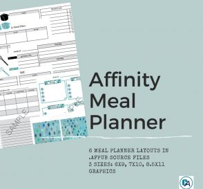 sample collage of affinity meal planner template