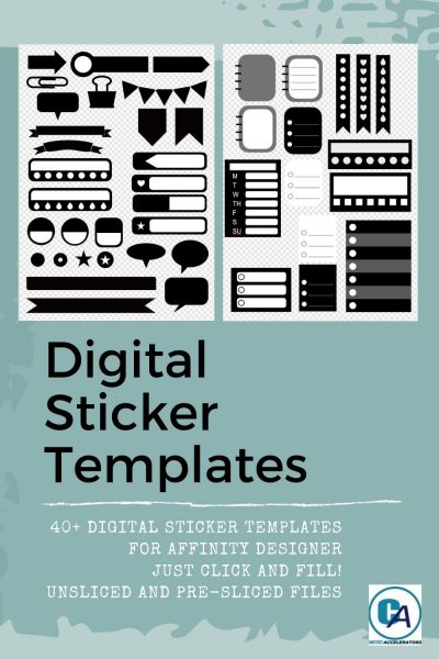 product photo of digital sticker templates for affinity designer